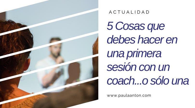 5 cosas primera sesión coach